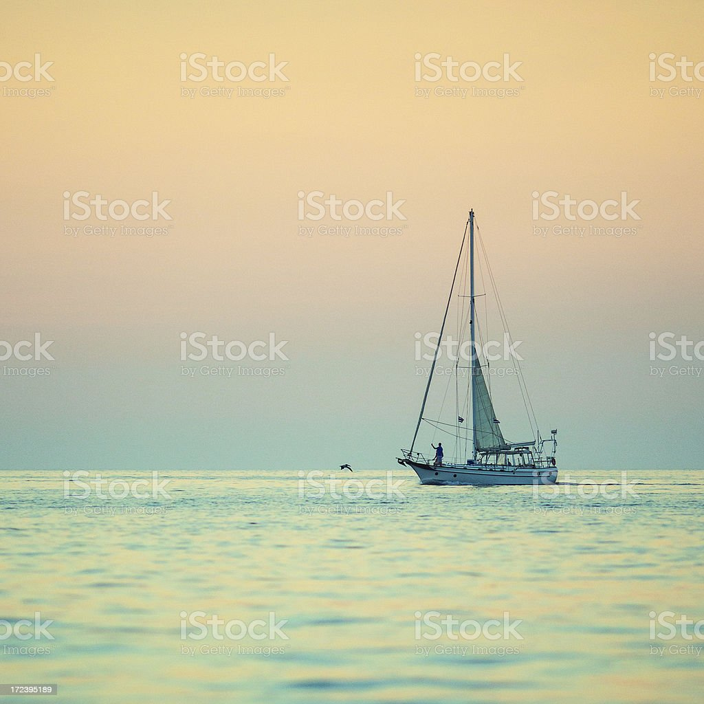 costa rica coast sunset royalty-free stock photo