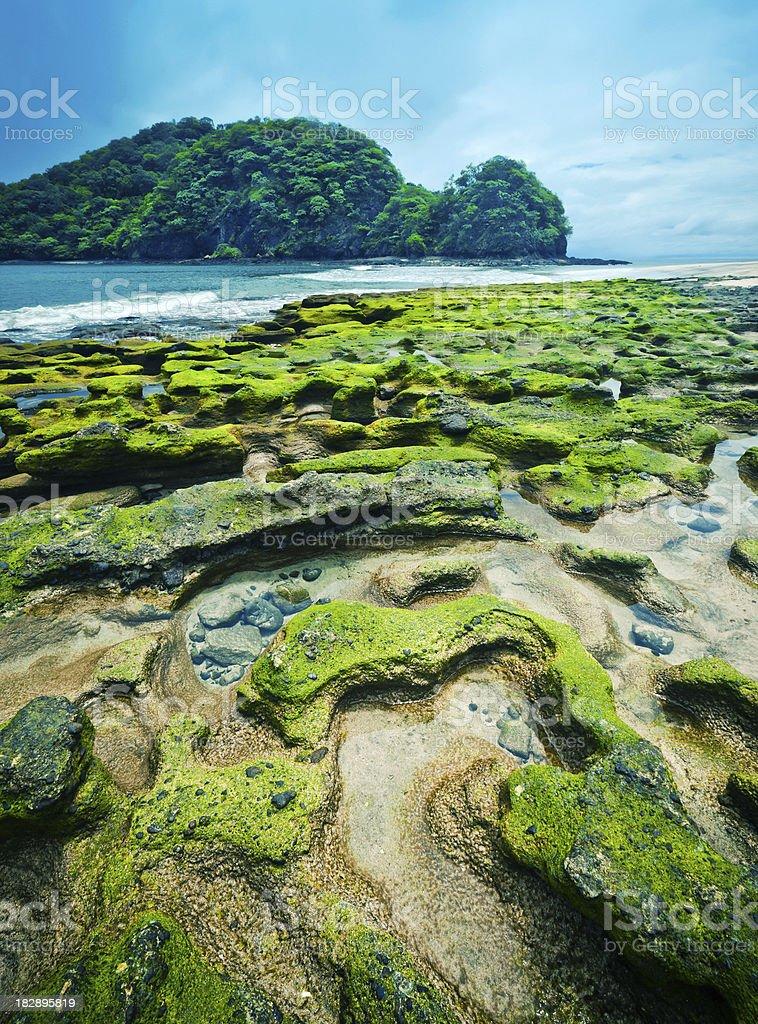 costa rica deserted beach stock photo