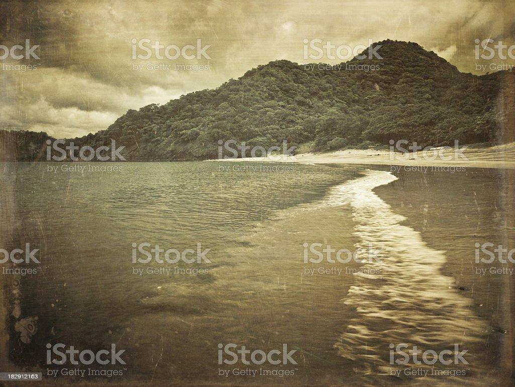 costa rica deserted beach royalty-free stock photo