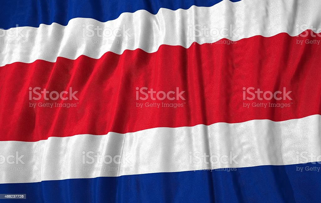Costa Rica flag 3d illustration stock photo