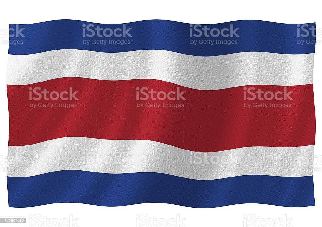 costa rica flag stock photo