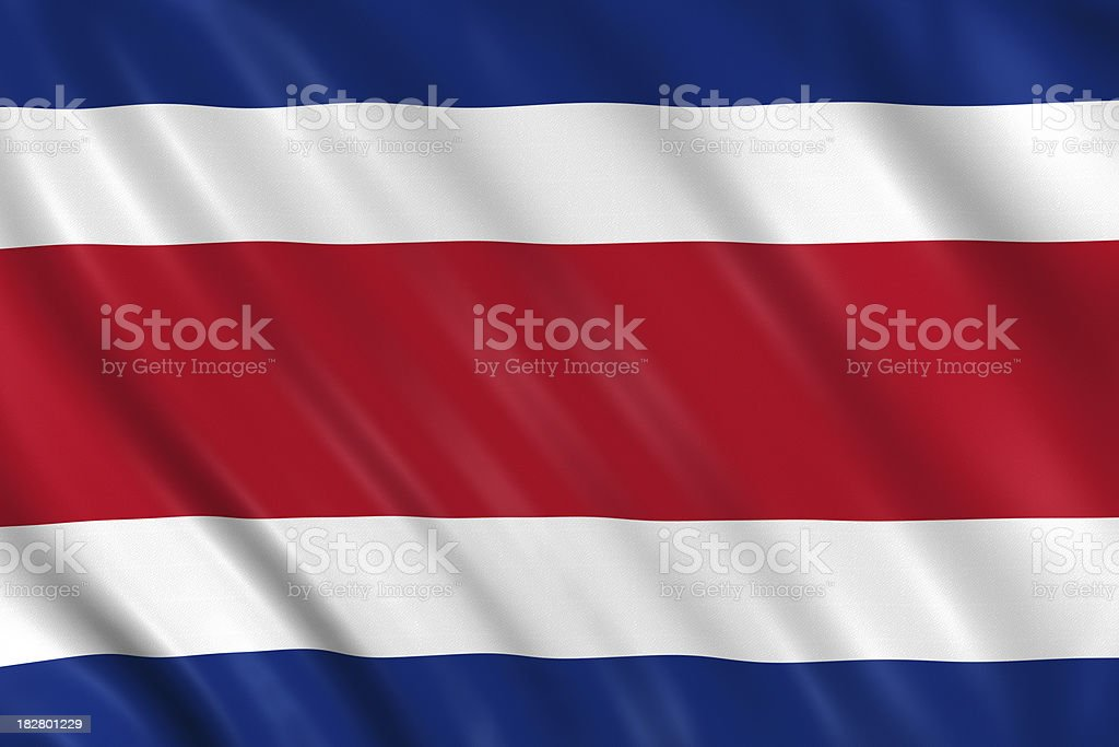 costa rica flag stock photo