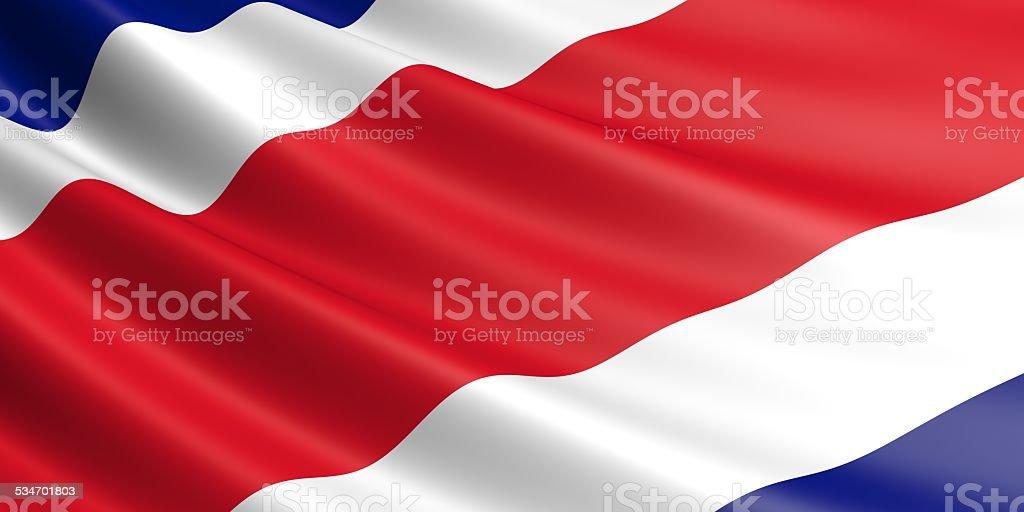 Costa Rica flag. royalty-free stock photo