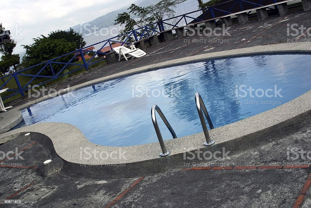 Costa Rica : Poolside royalty-free stock photo