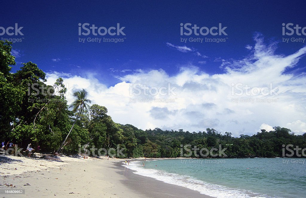 Costa Rica, Puntarenas Province, Quepos, Manuel Antonio National Park, beach. stock photo