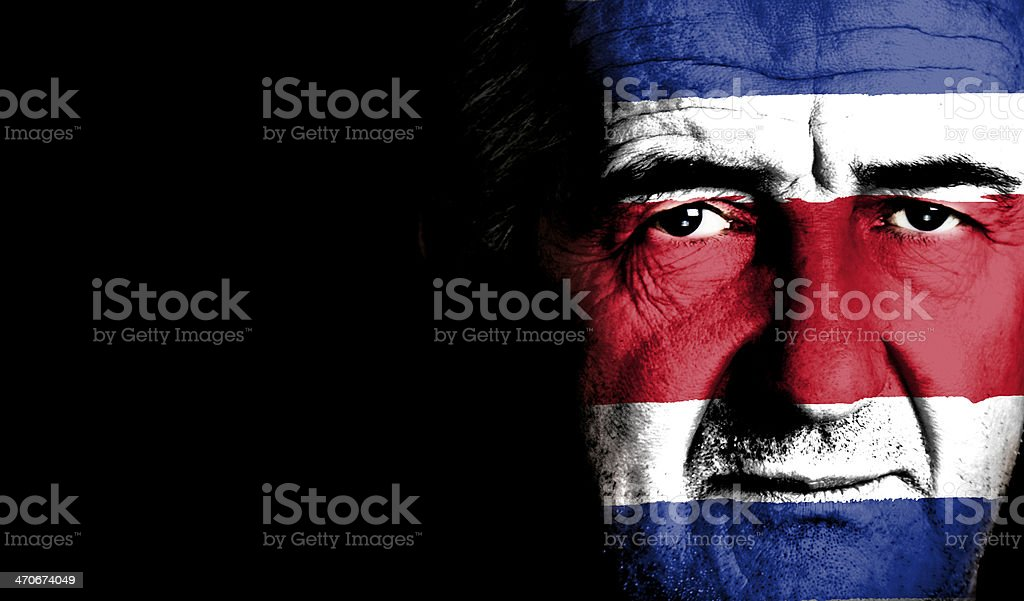 Costa Rica Sport Soccer Fan royalty-free stock photo
