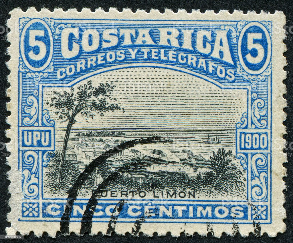 Costa Rica Stamp royalty-free stock photo