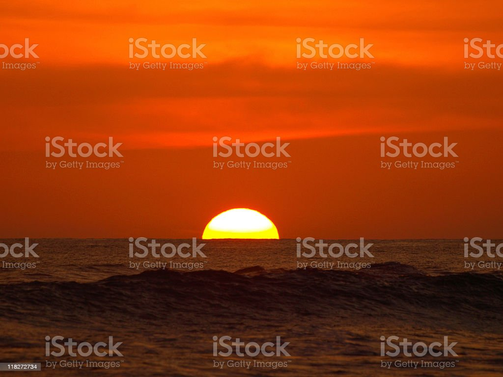 costa rica sunset royalty-free stock photo