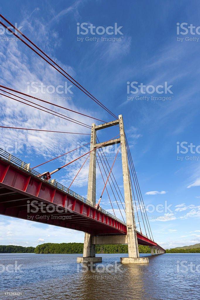 Costa Rica Tempisque River Bridge Puente La Amistad de Taiwan stock photo