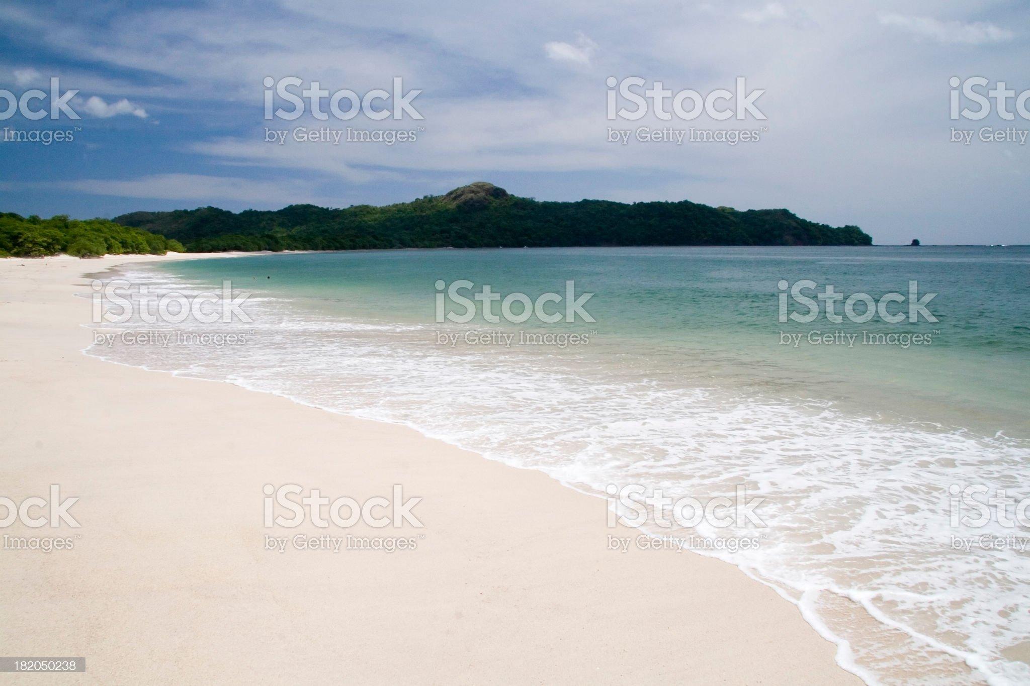 Costa Rica white sand Beach 1 royalty-free stock photo