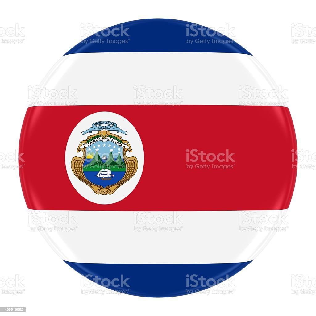 Costa Rican Flag Badge stock photo
