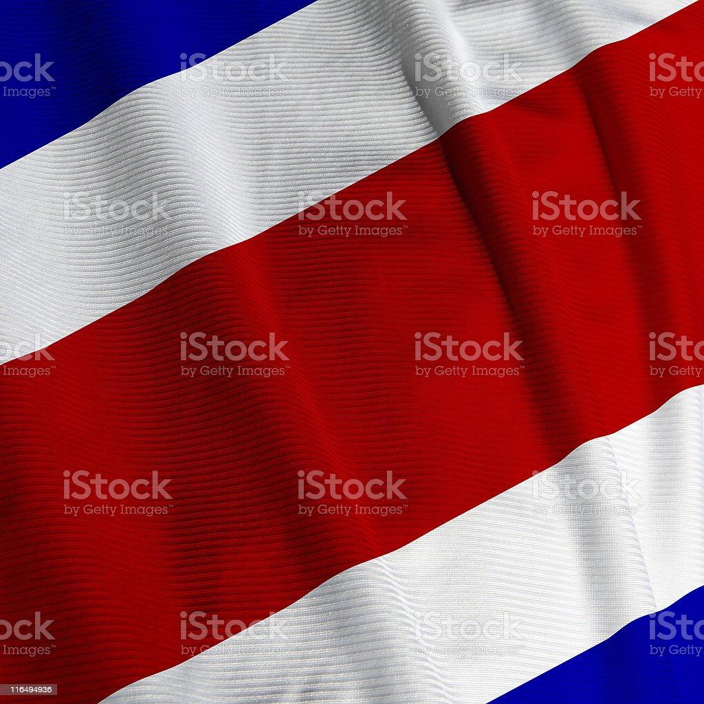 Costa Rican Flag Closeup royalty-free stock photo