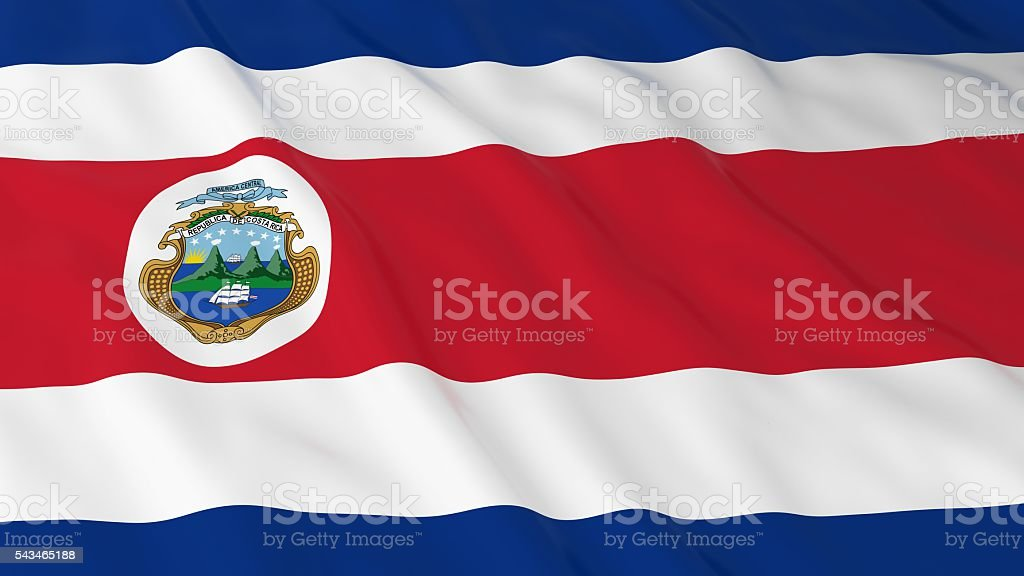 Costa Rican Flag HD Background - Flag of Costa Rica stock photo