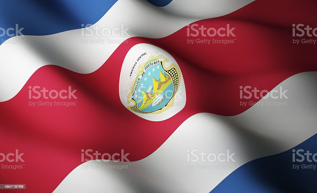 Costa Rican flag stock photo