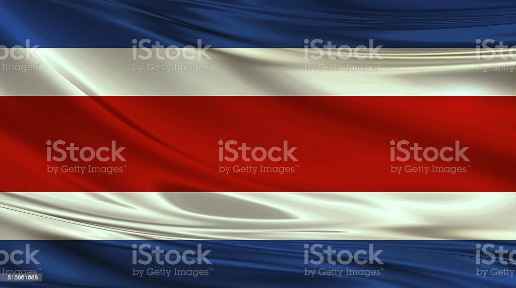Costa Rican flag stock photo