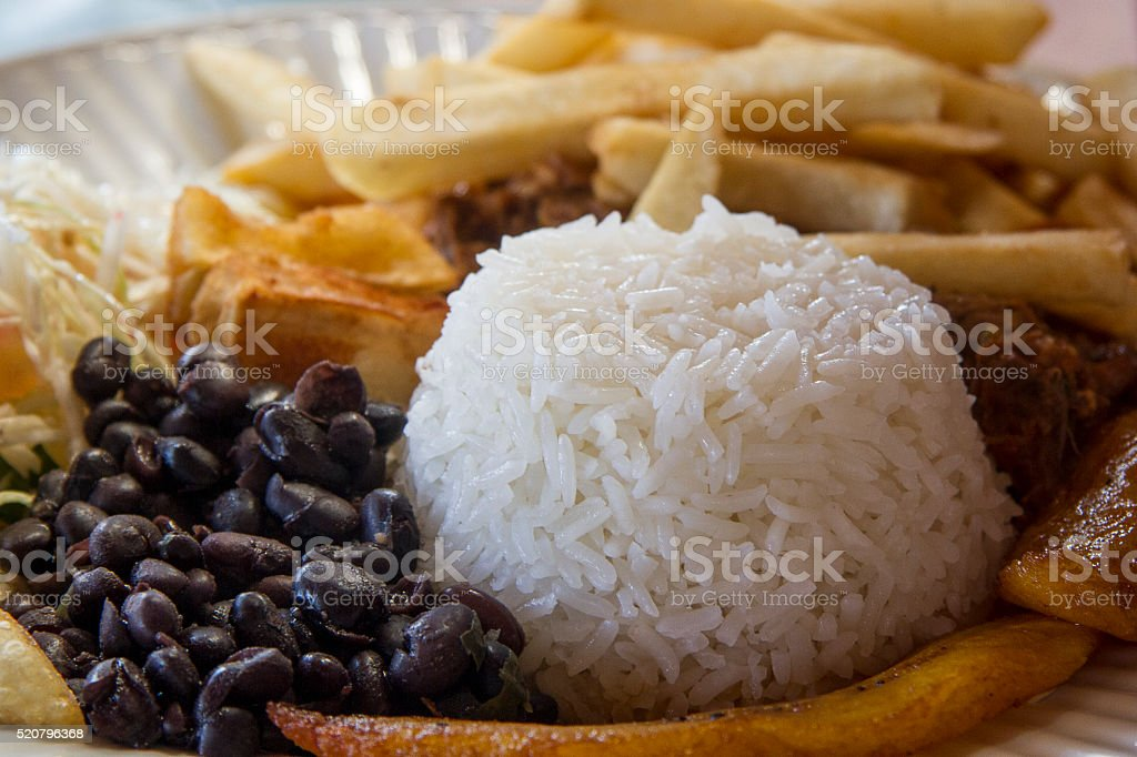 Costa Rican food ' Casado' stock photo