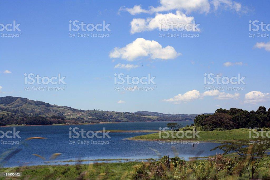 Costa Rican Lake stock photo