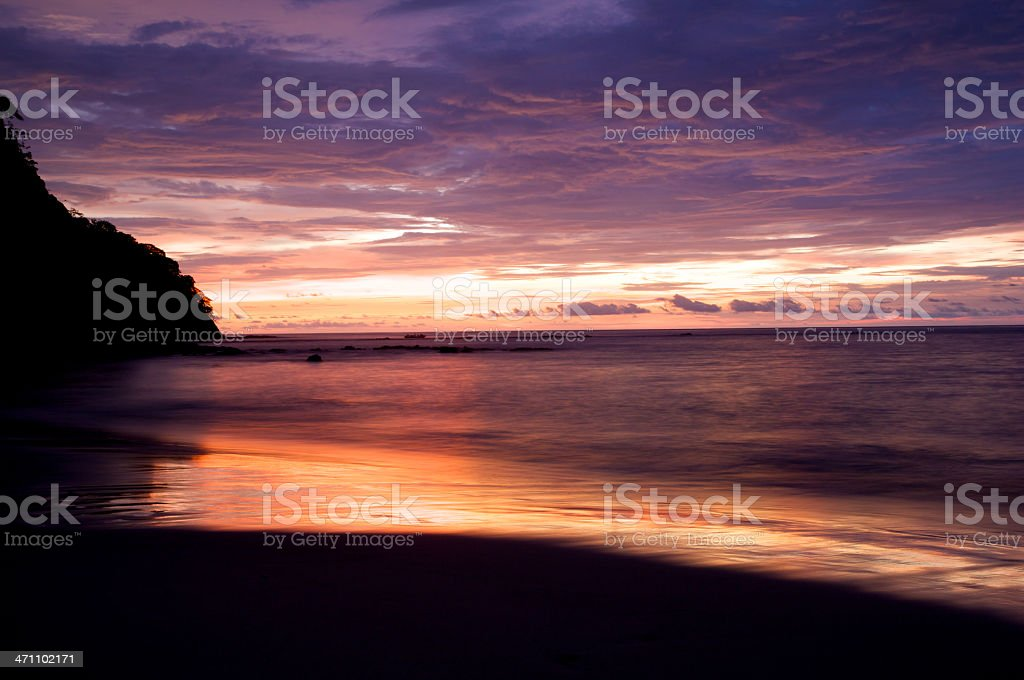 Costa Rican sunset royalty-free stock photo