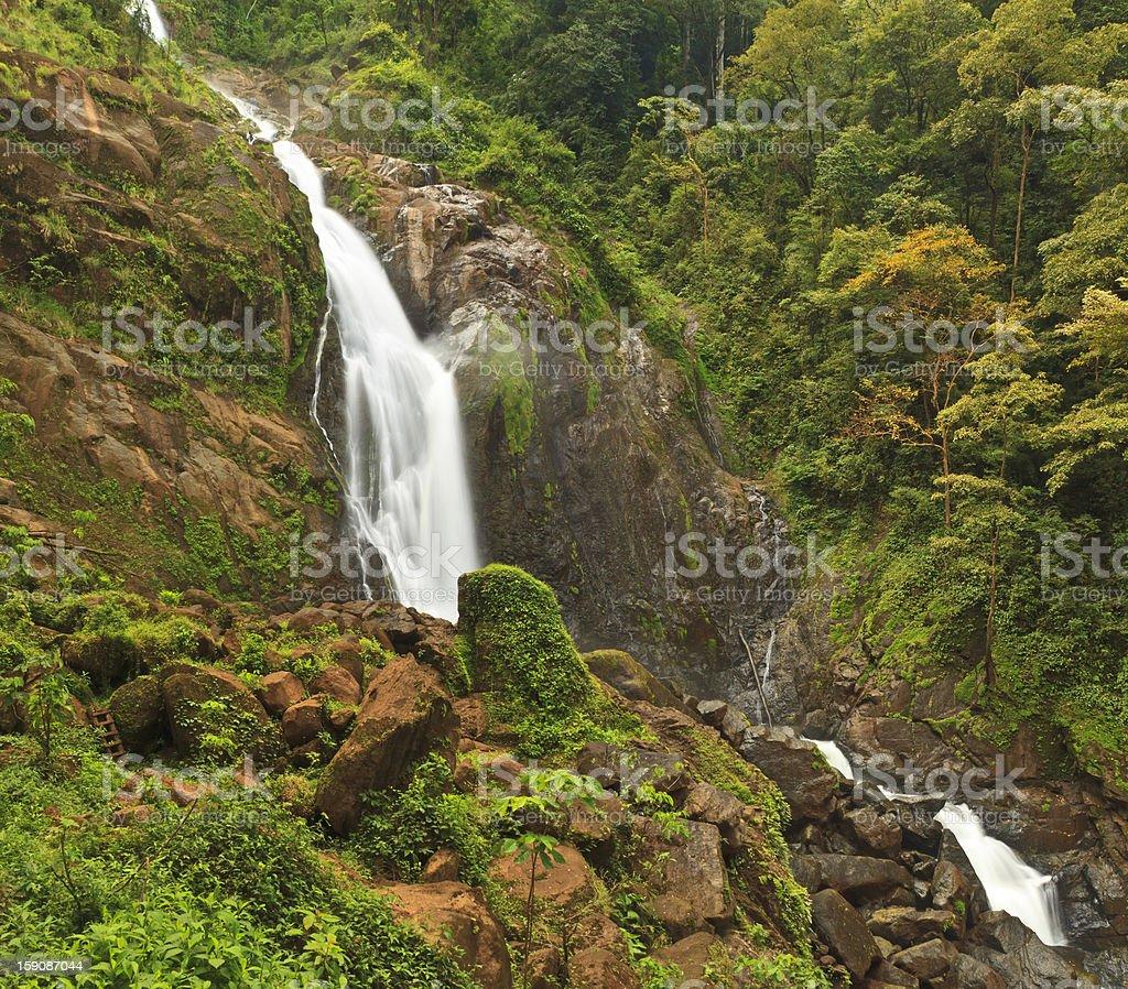 Costa Rican Waterfall Panorama stock photo