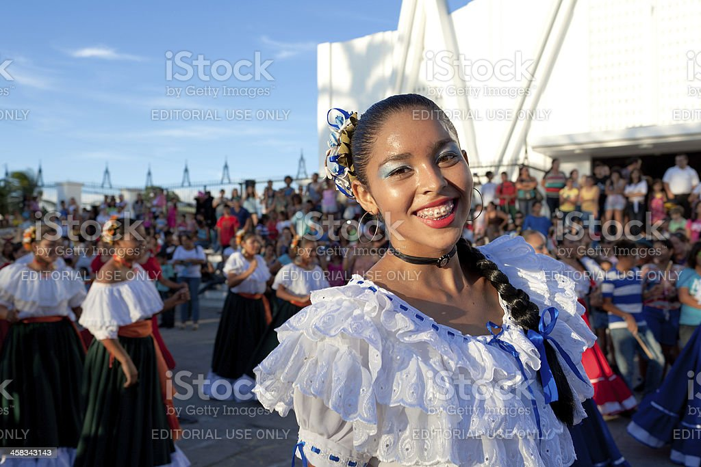 Costa Rican young woman stock photo