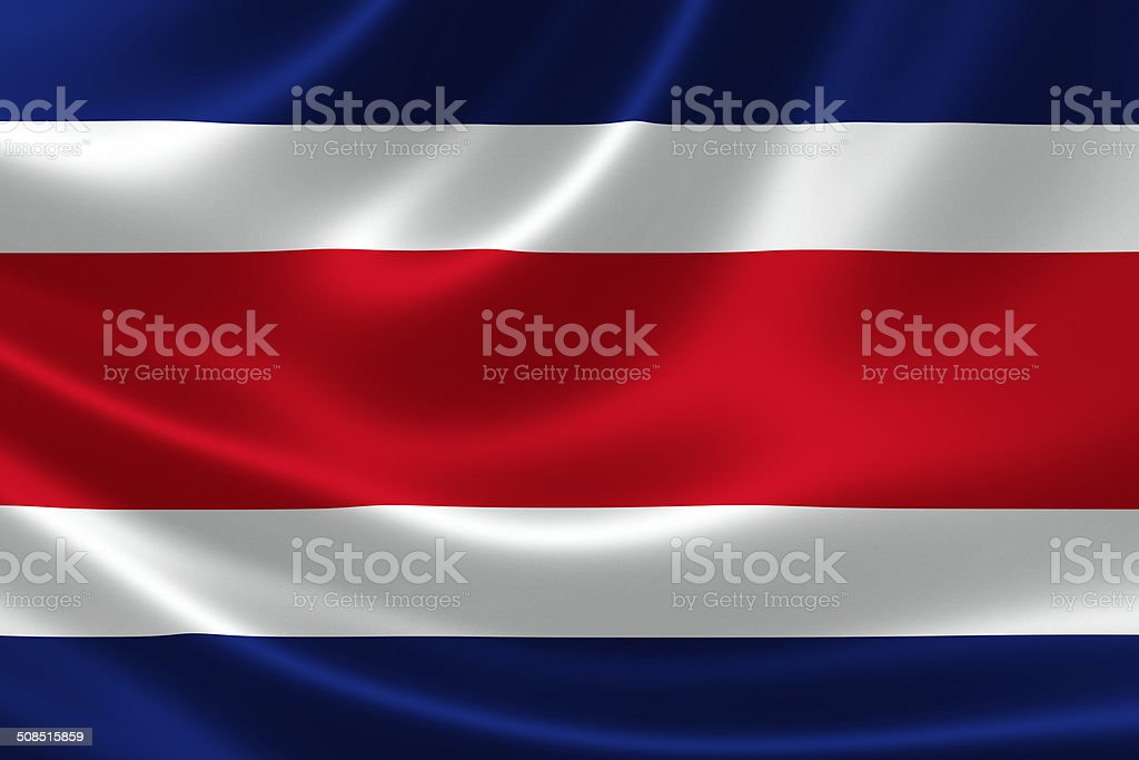 Costa Rica's Flag stock photo