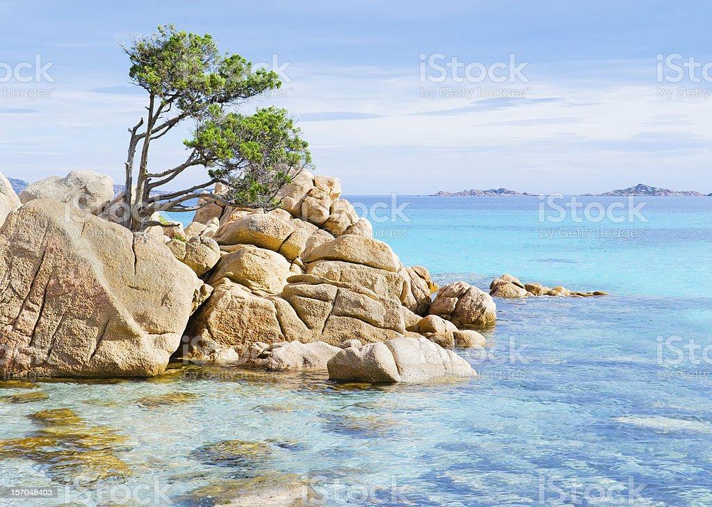 Costa Smeralda beach stock photo