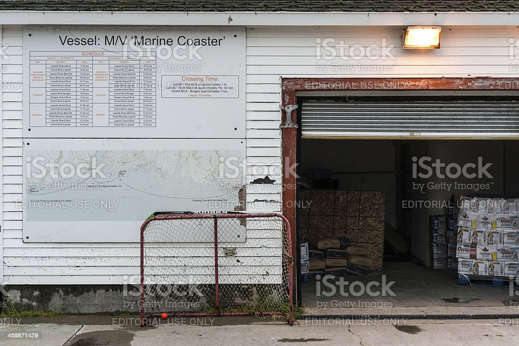 Costal Ferry Schedule royalty-free stock photo