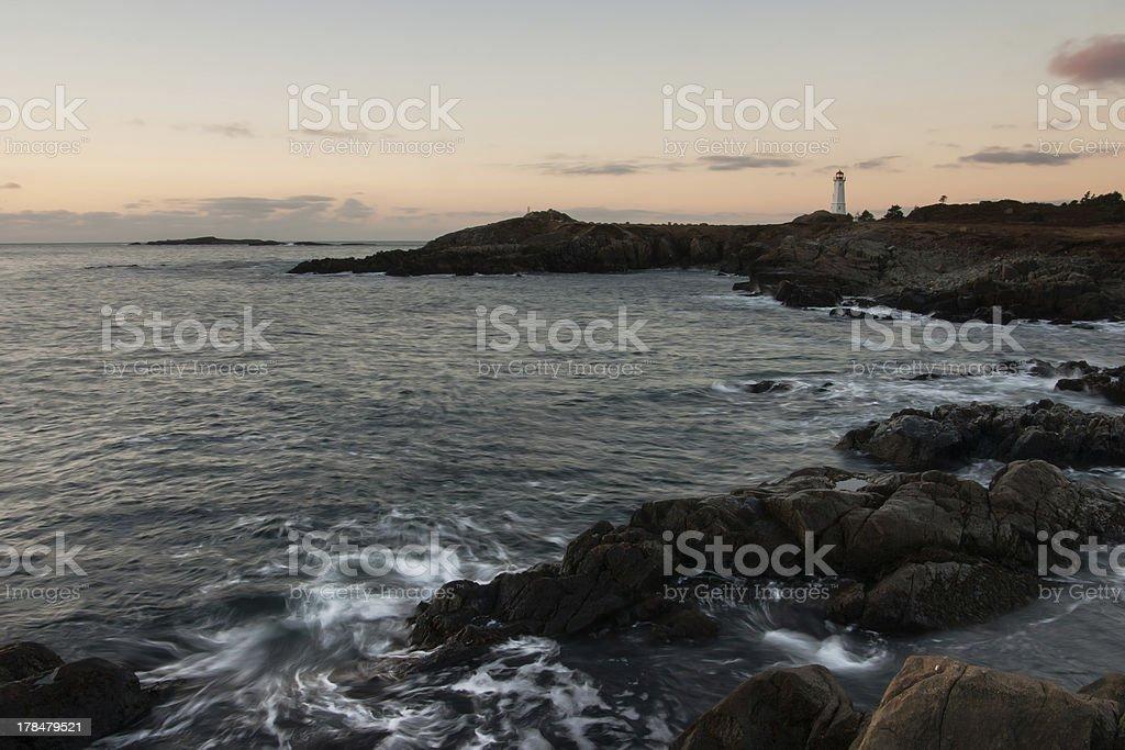 Costal lighthouse stock photo