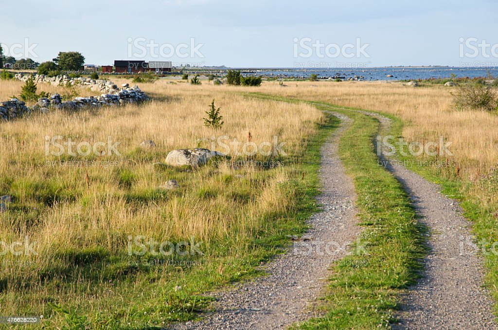 Costal road stock photo