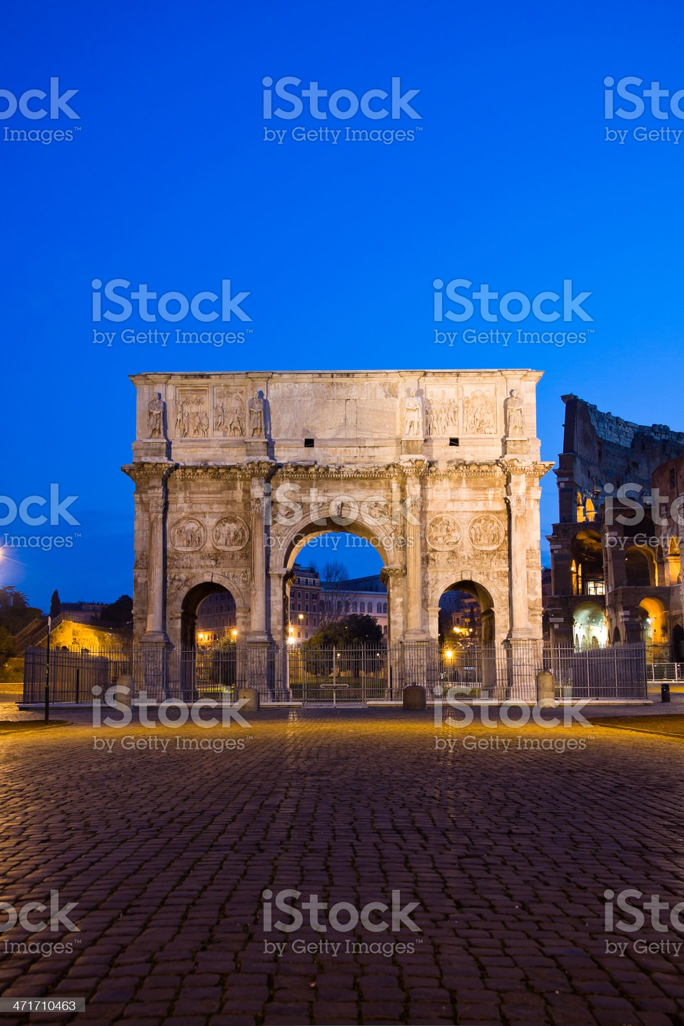 Costantine arch near Colosseum, Rome, Italy royalty-free stock photo