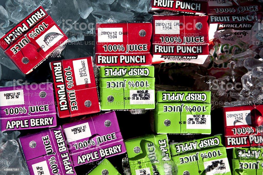 Costco Kirkland Juice Boxes stock photo