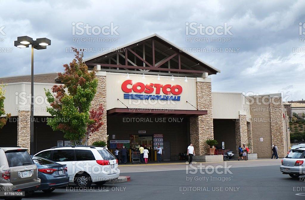 Costco Wholesale in the evening stock photo