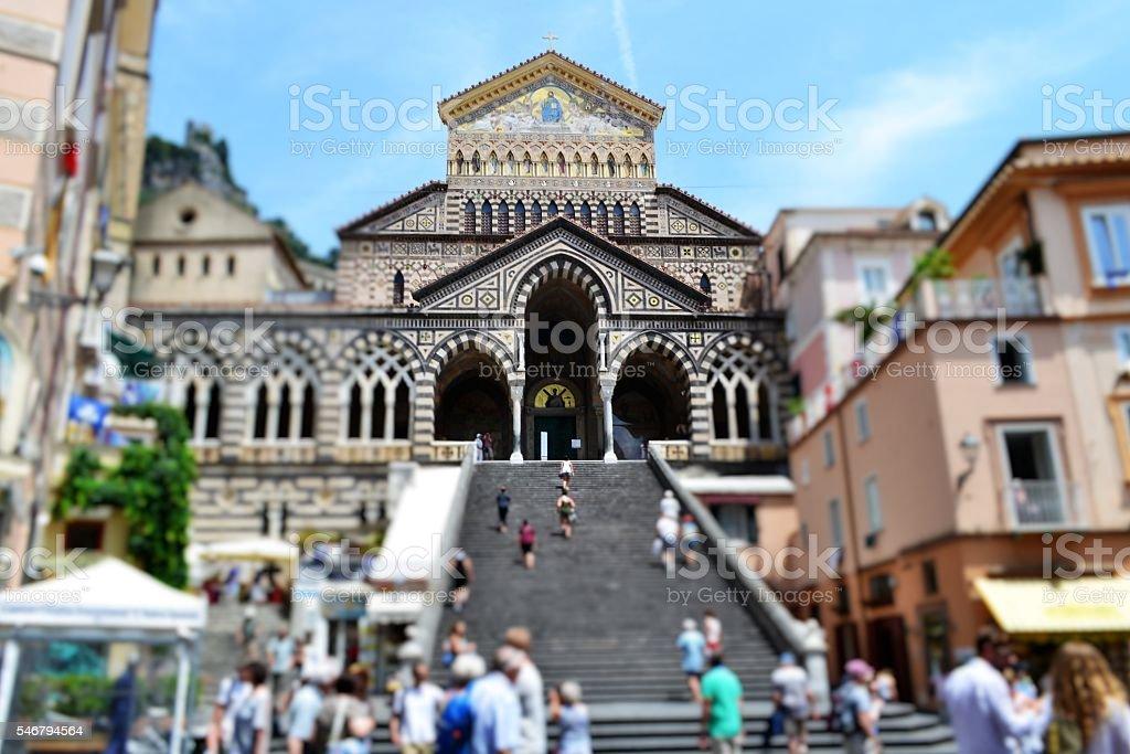 Costiera amalfitana. Duomo di Amalfi stock photo