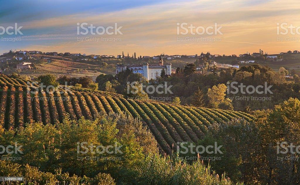 Costigliole d'Asti (Piedmont, Italy) royalty-free stock photo