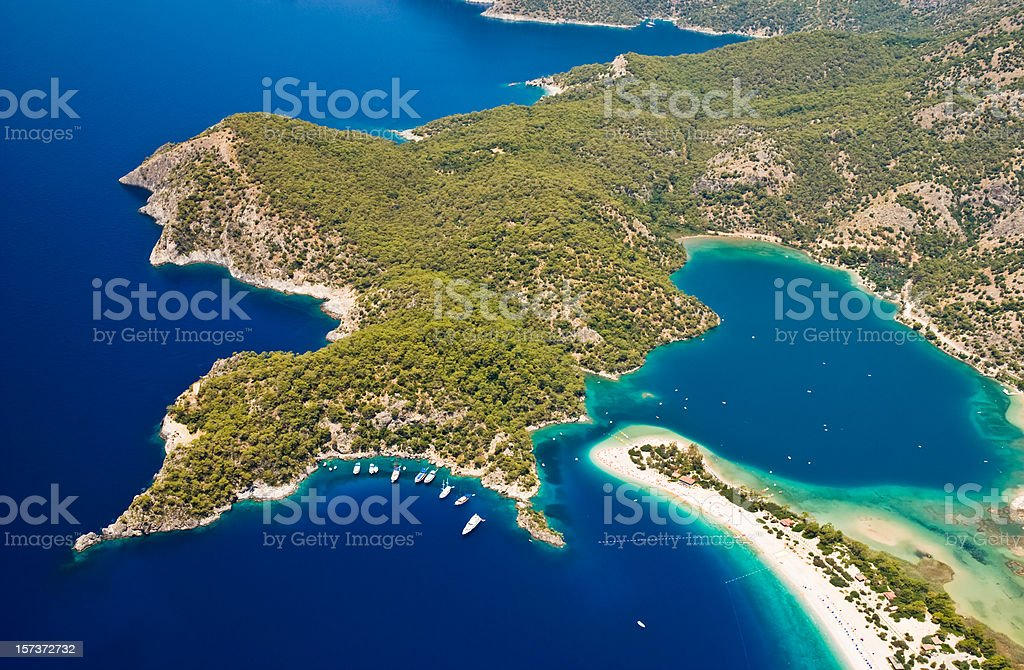 Costline from the sky, Turkey royalty-free stock photo