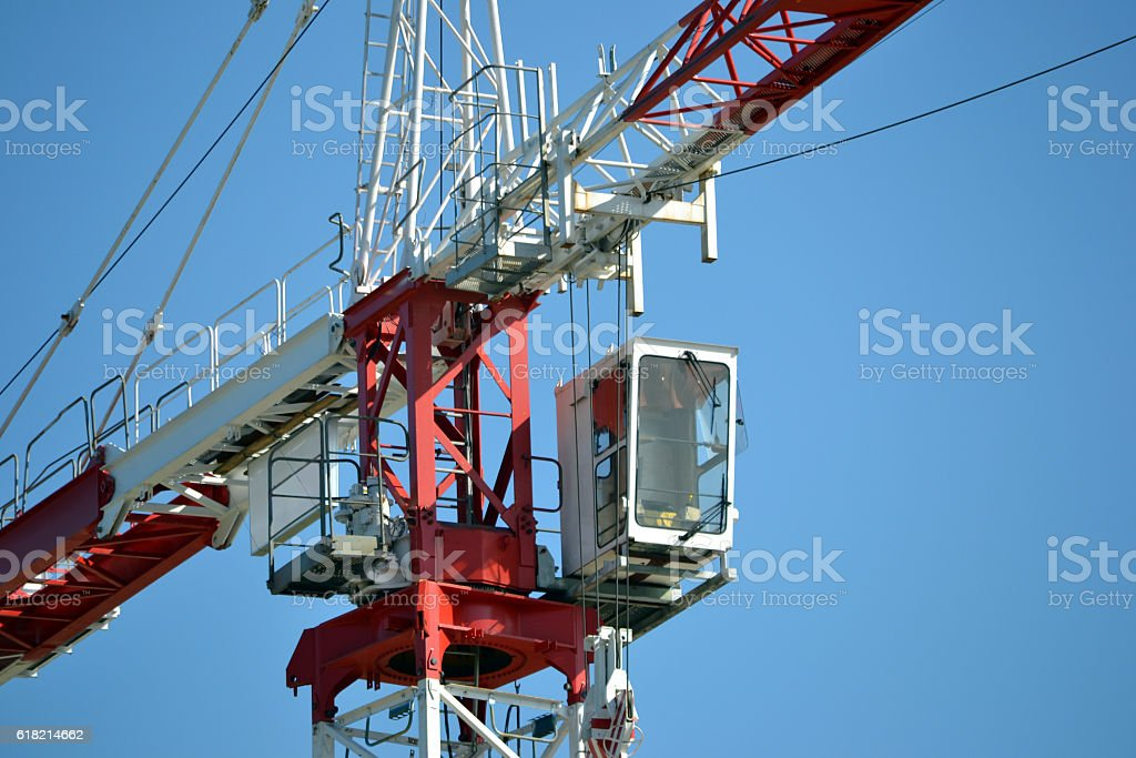 Costruction crane stock photo