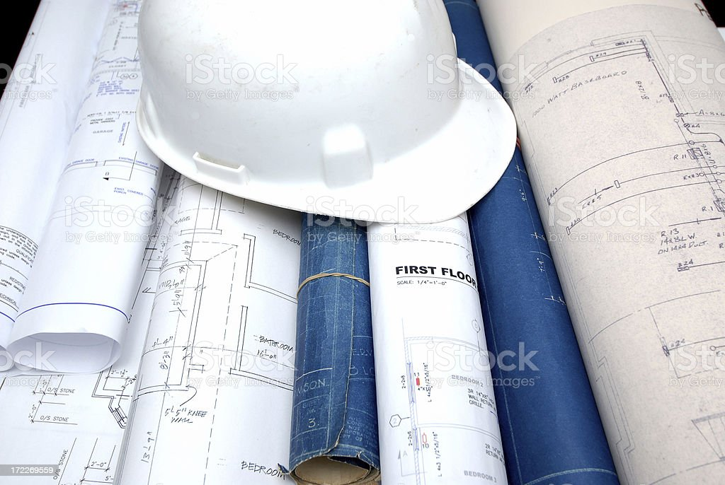 costruction site office royalty-free stock photo