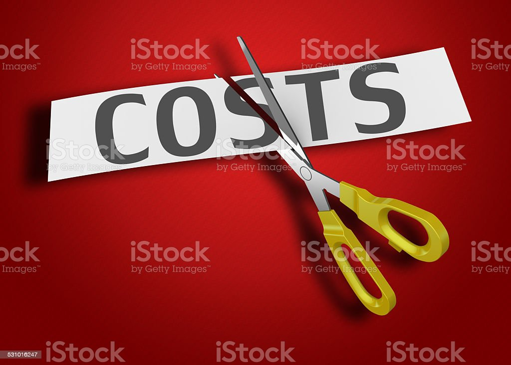 Costs as concept stock photo