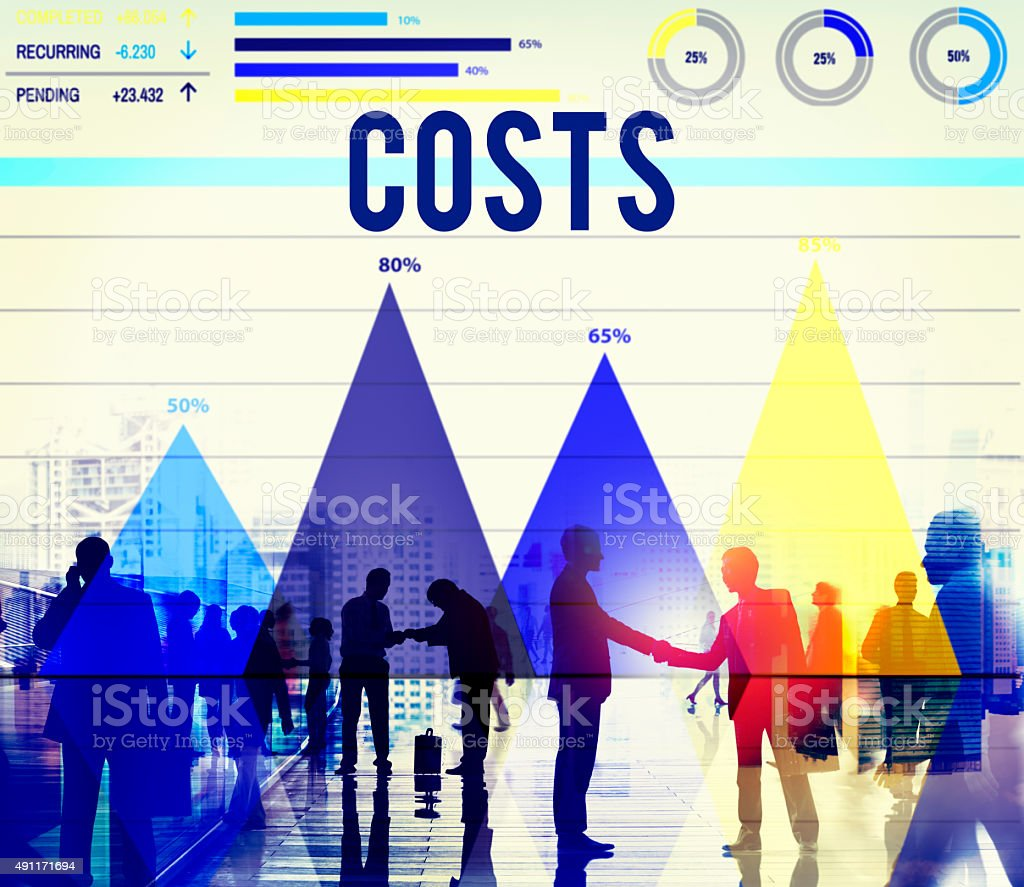 Costs Budget Currency Economy Financial Income Concept stock photo