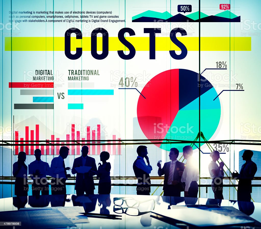 Costs Budget Currency Financial Savings Concept stock photo