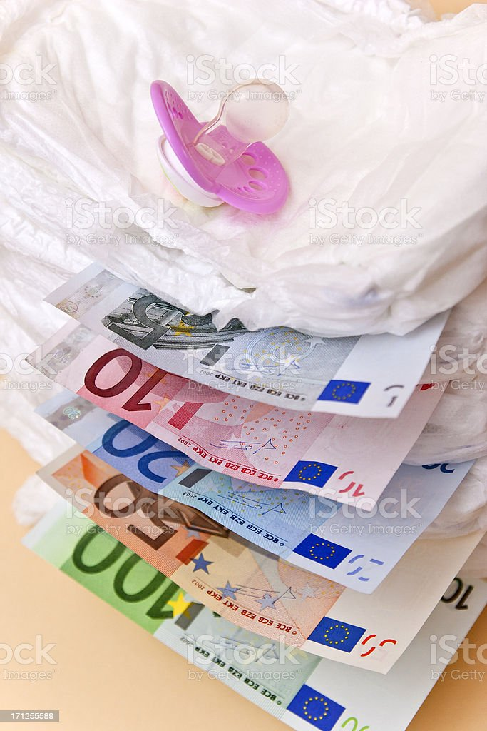 Costs of Baby Care stock photo