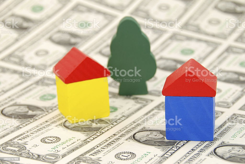 costs of building a house stock photo
