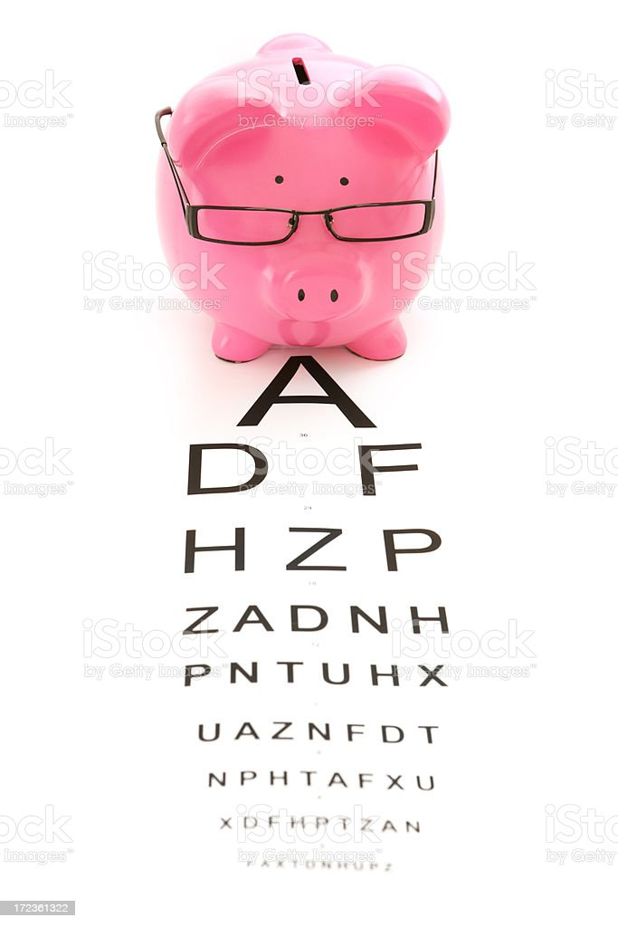 Costs of Eye Care royalty-free stock photo