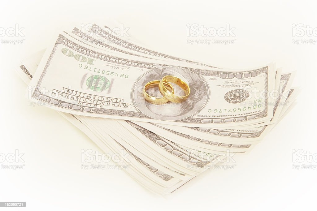 Costs of Marriage royalty-free stock photo