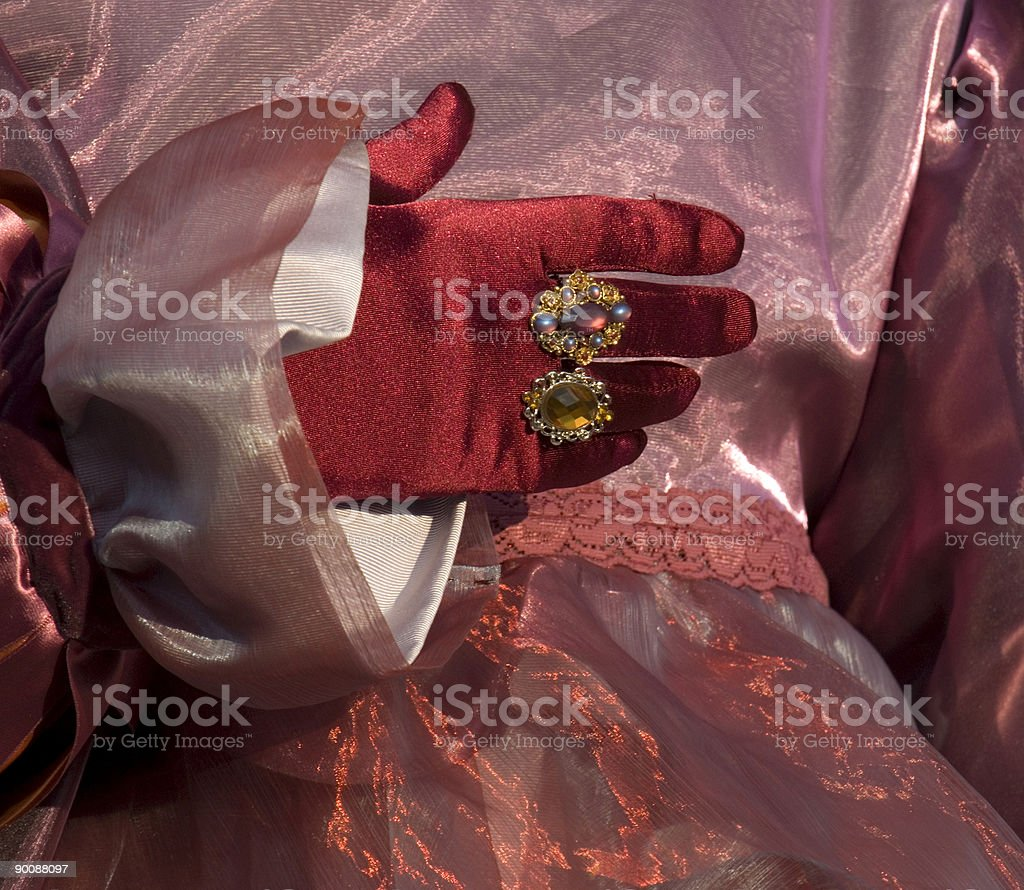 Costume and Glove ** 2 royalty-free stock photo