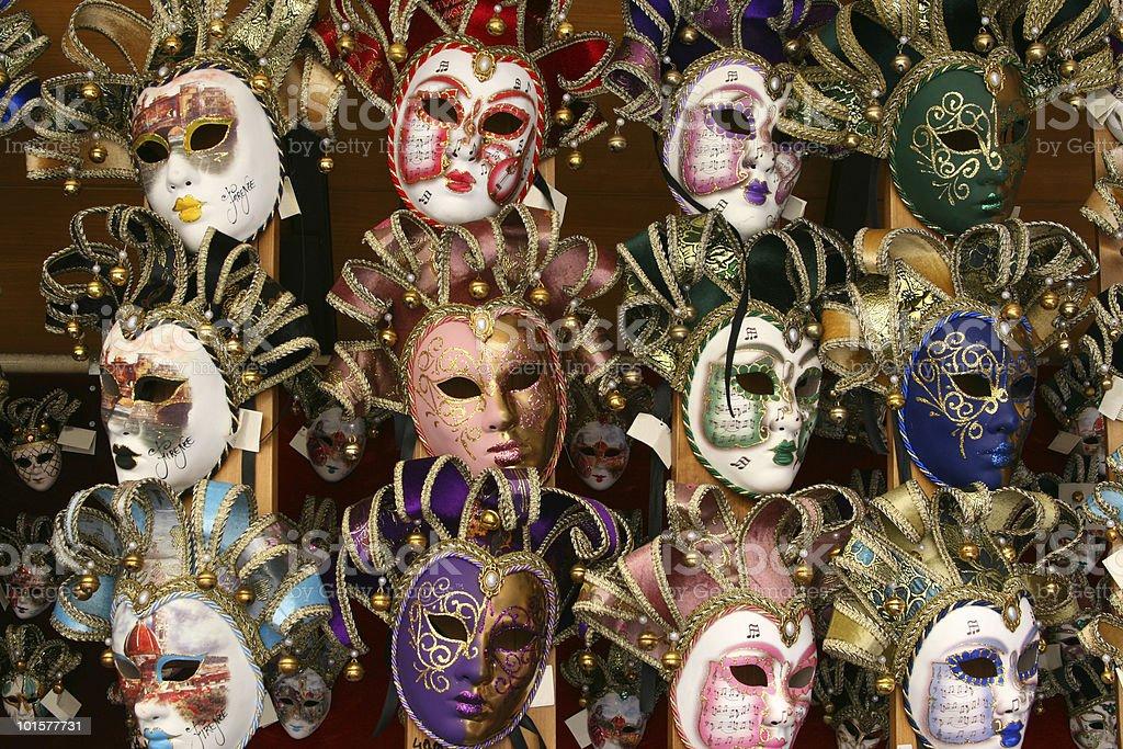 Costume Masks stock photo