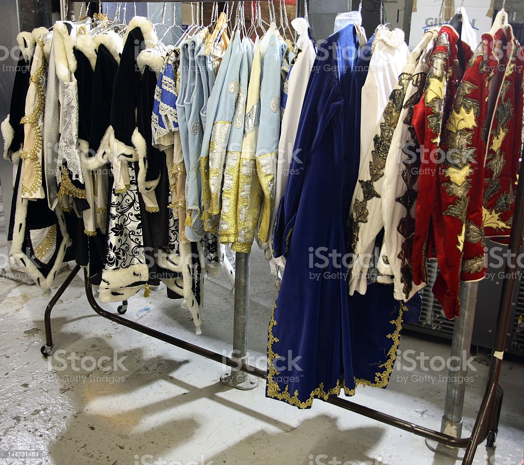 Costume rail stock photo