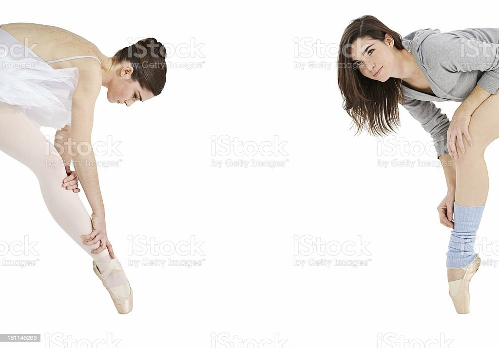 Costume to casual - Dancewear royalty-free stock photo