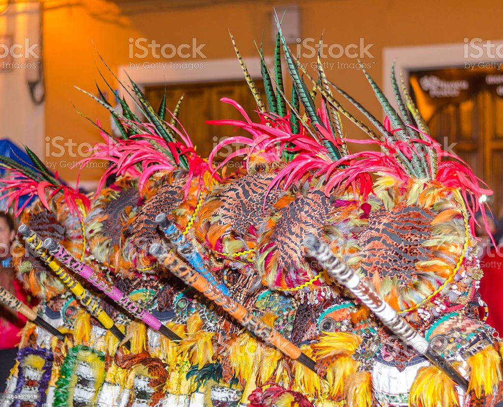 Costumes of the annual Moors and Christians festival. stock photo