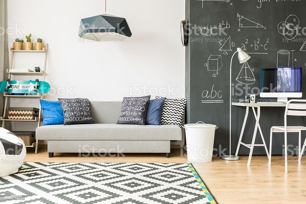 Cosy and comfortable kid's room stock photo